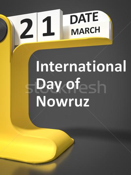 vintage calendar International Day of Nowruz Stock photo © magann