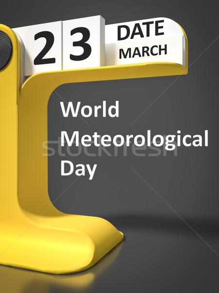 vintage calendar World Meteorological Day  Stock photo © magann