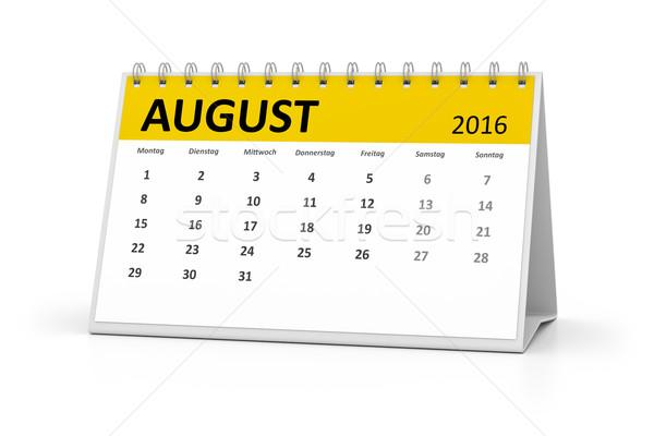 Lingua tavola calendario 2016 agosto eventi Foto d'archivio © magann