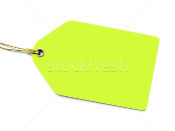 Típico verde preço membro isolado branco Foto stock © magann