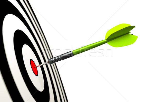 Darts nyíl kép zöld sport piros Stock fotó © magann