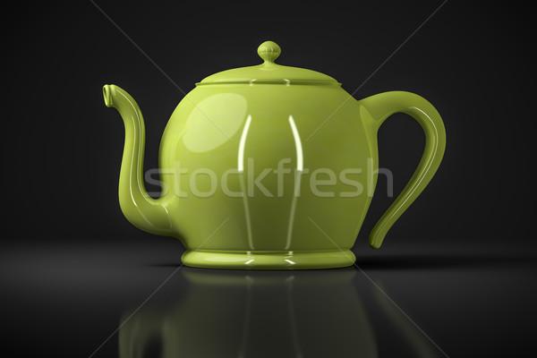 green tea pot Stock photo © magann