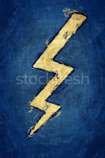 flash sign painting Stock photo © magann