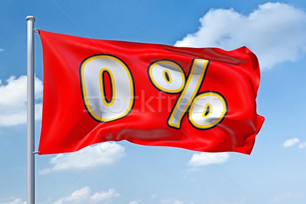 Zero por cento imagem bandeira blue sky céu Foto stock © magann