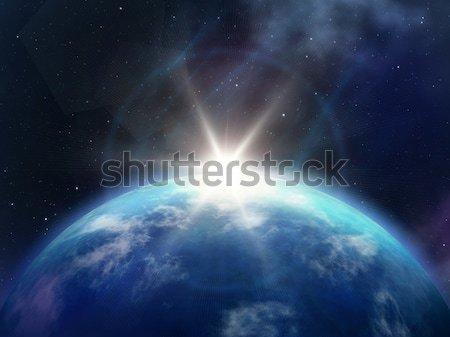 Planet sunrise Stock photo © magann