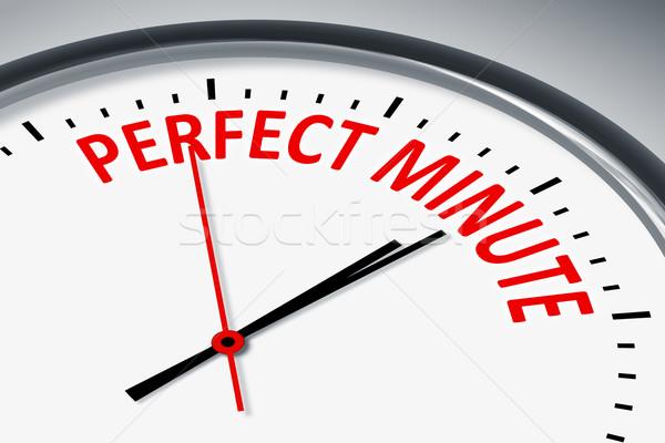 идеальный минута иллюстрация часы текста красный Сток-фото © magann