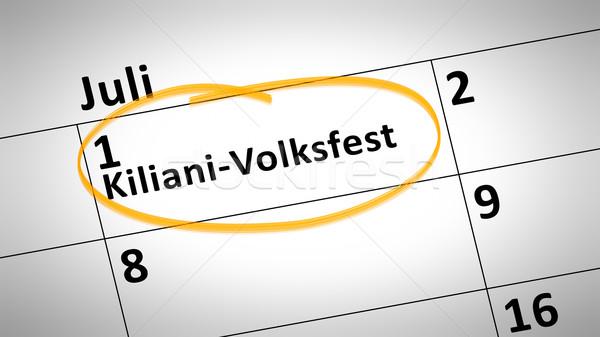 Kiliani folk festival first of July in german language Stock photo © magann