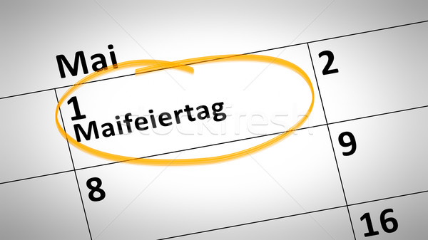 May Day 1st of May in German language Stock photo © magann