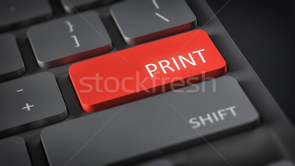 Bilgisayar klavye baskı görüntü metin Internet teknoloji Stok fotoğraf © magann