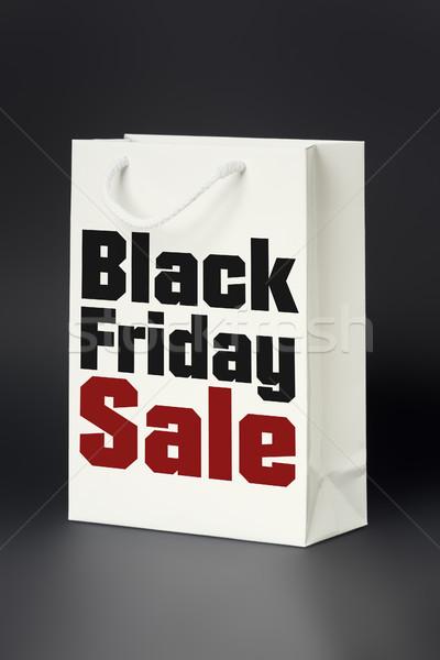 Witte boodschappentas black friday verkoop afbeelding mode Stockfoto © magann