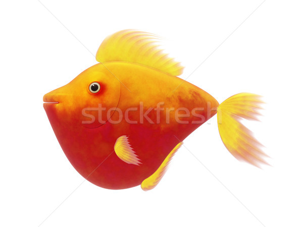 red comic fish Stock photo © magann