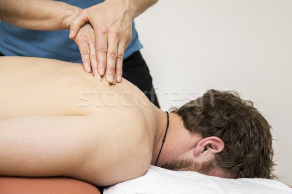 Moço terapia imagem mãos médico saúde Foto stock © magann
