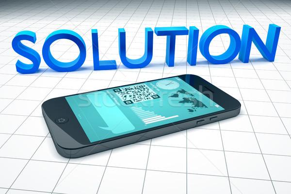 smart phone solution Stock photo © magann