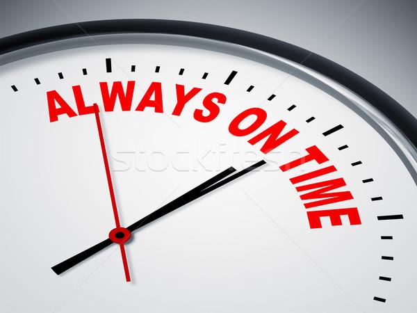 Sempre tempo imagem bom relógio negócio Foto stock © magann