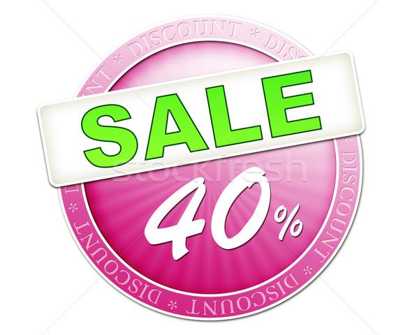 Vásár gomb 40 kép hasznos piros Stock fotó © magann