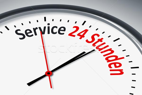 Zegar tekst obraz typowy usługi 24 Zdjęcia stock © magann