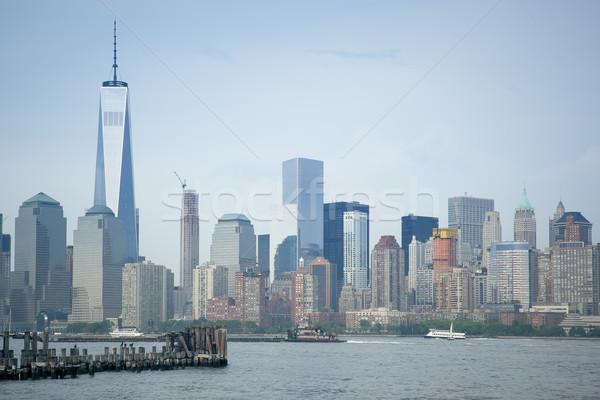 Nueva York imagen alto edificios cielo oficina Foto stock © magann