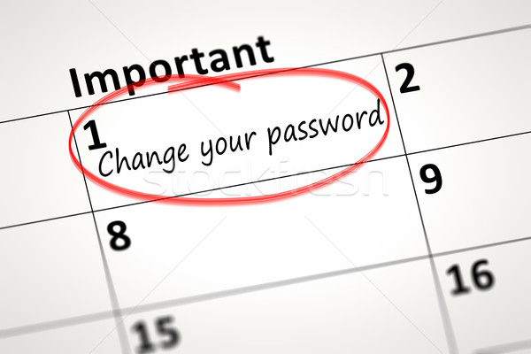Change your password every month Stock photo © magann