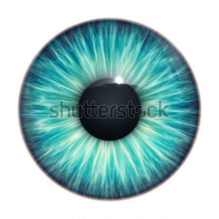Kék szem kép labda üveg szemek Stock fotó © magann