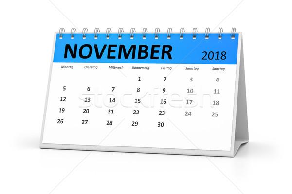german language table calendar 2018 november Stock photo © magann
