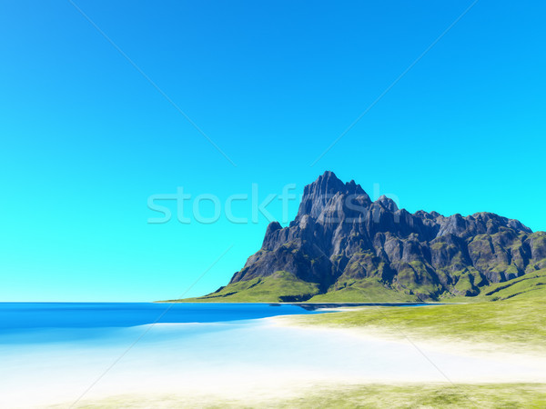 beach scenery background Stock photo © magann