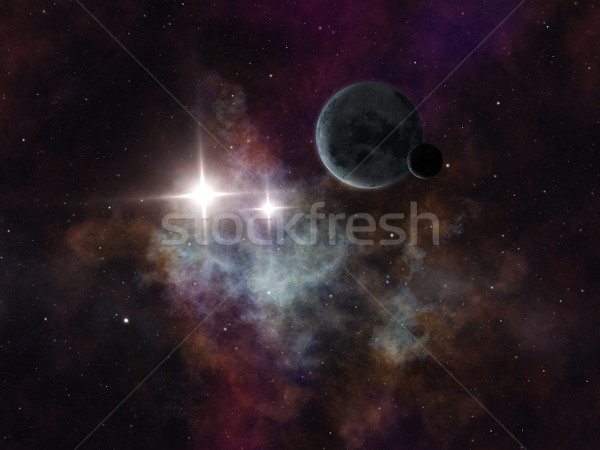 Galaxy afbeelding vreemd planeet ruimte hemel Stockfoto © magann