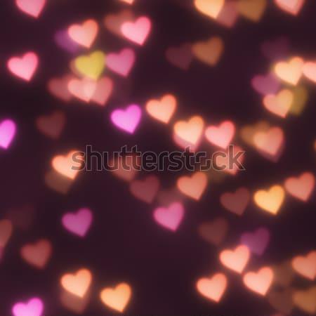 hearts bokeh background Stock photo © magann