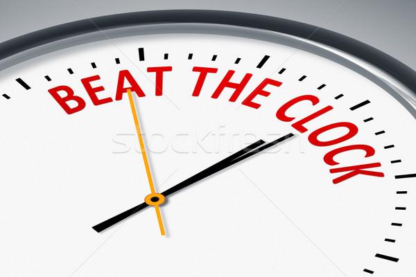 Zegar tekst bić obraz typowy pomarańczowy Zdjęcia stock © magann