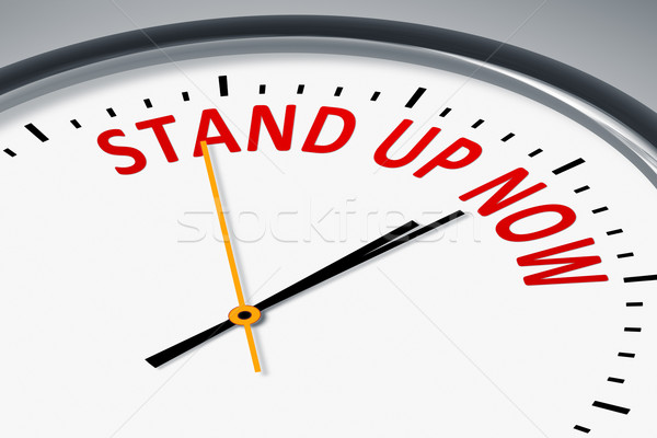 clock with text Stand up now Stock photo © magann