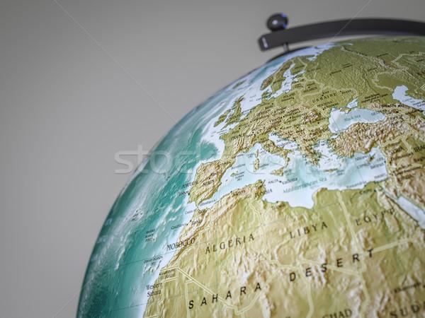 globe shows europe Stock photo © magann