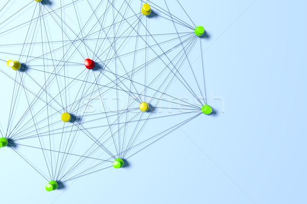 Сток-фото: сеть · 3D · Мир · технологий · фон