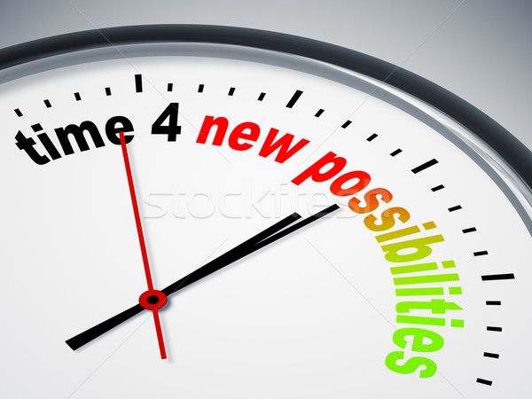 time 4 new possibilities Stock photo © magann