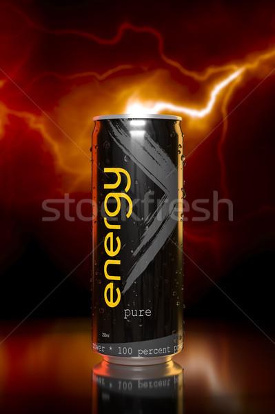 Tipikus energiaital 3D renderelt kép absztrakt fény Stock fotó © magann