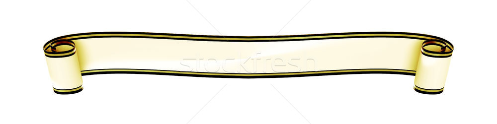 a typical curled ribbon banner isolated on white background Stock photo © magann