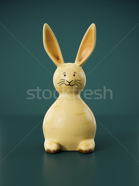 sweet easter bunny figure Stock photo © magann