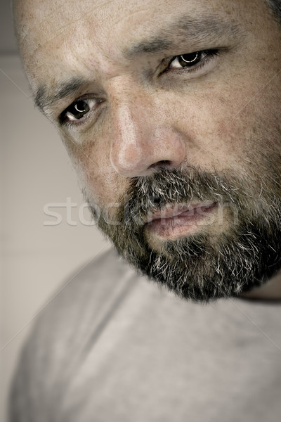 melancholy male expression Stock photo © magann