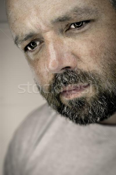 Melancolia masculino imagem cara homem cabelo Foto stock © magann