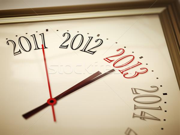 Capodanno 2013 immagine nice clock 2011 Foto d'archivio © magann