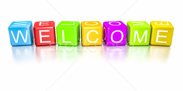 welcome dice Stock photo © magann