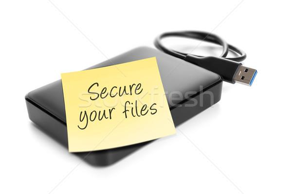 Imagem texto proteger papel fundo Foto stock © magann