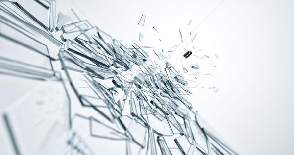 üveg sérült lövedék kép terv művészet Stock fotó © magann