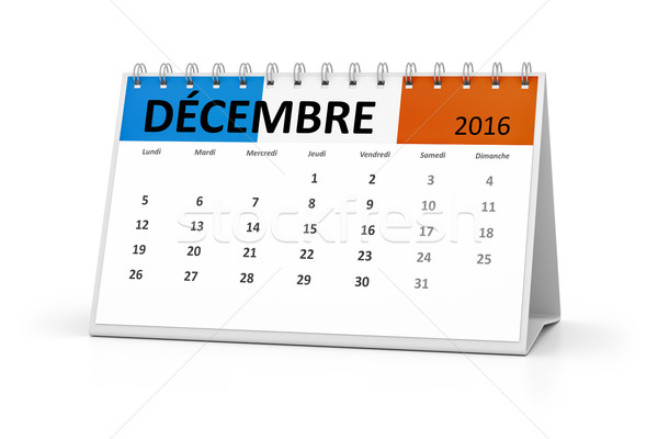 french language table calendar 2016 december Stock photo © magann