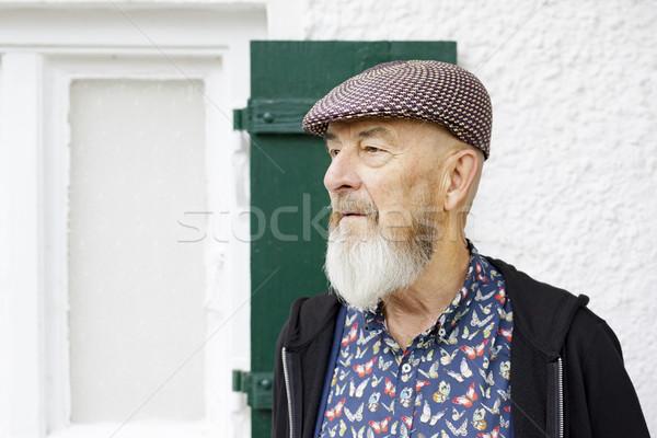 Vieillard extérieur image barbe visage homme Photo stock © magann