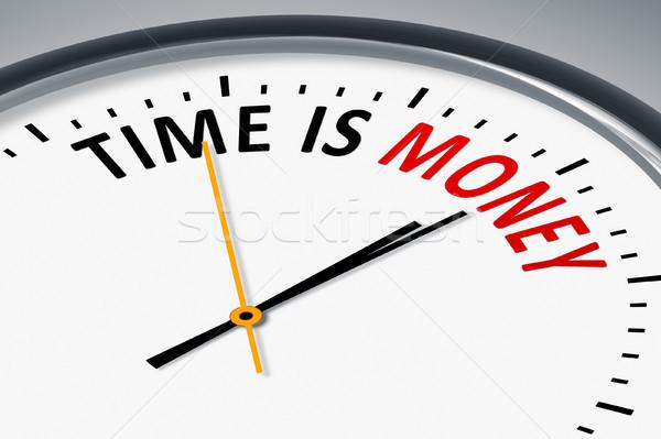 Klok tekst tijd is geld afbeelding typisch business Stockfoto © magann