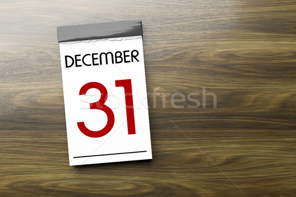 Calendar the 31st of December New Year's Eve Stock photo © magann