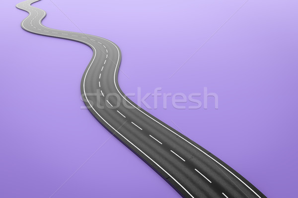 a winding road on a purple background Stock photo © magann