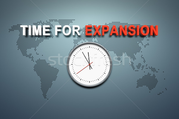 Time for expansion at the wall Stock photo © magann