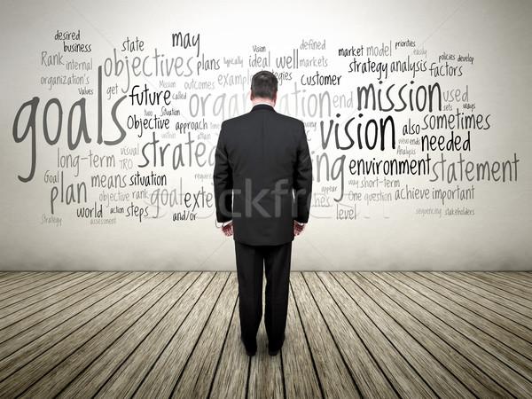 Business Man text cloud Stock photo © magann