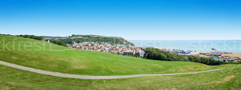 panoramic view over Hastings UK Stock photo © magann