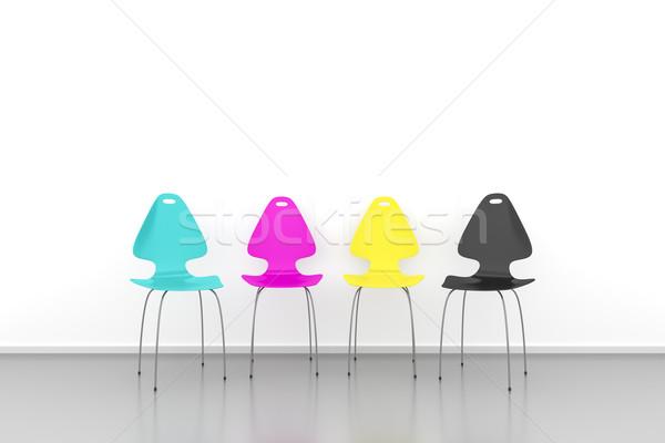 CMYK chairs Stock photo © magann